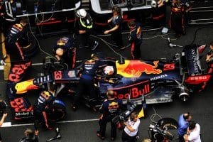 Formule 1 - pitstop Max Verstappen Monte Carlo - Monaco