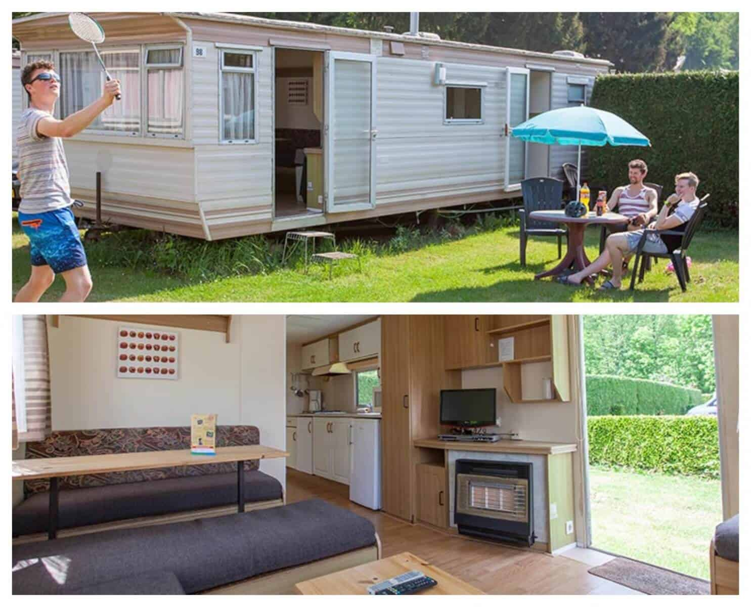 "Race Experience Camping Arrangement – Formule 1 België – Stacaravan ""The Pitbox"""